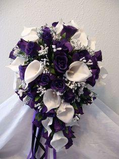 20 Purple Lily Wedding Bouquets - weddingtopia