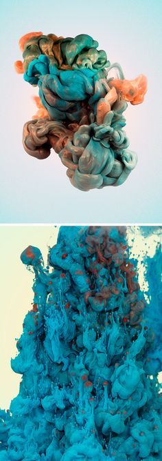 Alberto Seveso has made a name for himself with his vibrant, underwater photos of plumes of ink, but his latest series incorporates various metals that make the underwater plumes glisten.