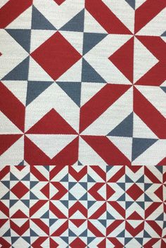 This bold fabric has a red white and blue geometric pattern. The bold contrasting pattern is perfect for a pop of color and clean edges in your home decor. The modern feel and unique print are perfect for your new bench or chair reupholster. Our talented team would be happy to help with your home decor project! Drapery Panels, Panel Curtains, Pillow Inserts, Pillow Covers, Window Seat Cushions, Geometric Fabric, Pattern Matching, Custom Pillows, Color Pop