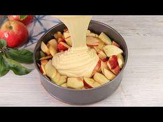 Kuchen in 1 Minute! Sie werden diesen Kuchen jeden Tag backen # 81 - YouTube Camembert Cheese, Apple Pie Cake, Fruit Pie, Dessert Recipes, Desserts, Dairy, Gluten, Food, Cooking