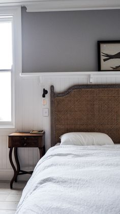 Rattan bedhead Modern Cottage, Luxury Accommodation, Whippet, Bedroom Inspo, Wren, Rattan, Minimalism, Bedhead, Shearing