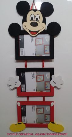 Excelente Mickey Mouse frame with three photos Small creations . Mickey Mouse frame with three photos Sma. Mickey Mouse Frame, Mickey Mouse Bedroom, Mickey E Minnie Mouse, Kids Crafts, Mouse Crafts, Preschool Crafts, Diy And Crafts, Mickey Mouse Birthday Decorations, Mickey Mouse Clubhouse Birthday
