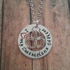 I need this!  I Love My Corrections Officer Necklace by tagsandthingsbyk on Etsy