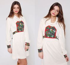 Vintage 70s Boho Holiday Dress by LotusvintageNY