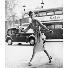 #fashionflashback Model photographed by Claude Virgin for Vogues August 1957 issue by britishvogue