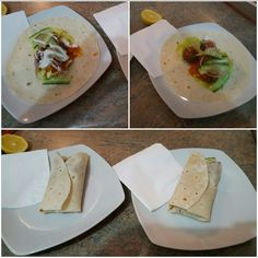 Meatball wraps with bluecheese salad dressing. Tasty and light