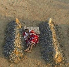 Exhibit A. Fake. Orphaned Syrian Boy Sleeping Between his Parents' Graves. The photo, as captioned, tugged at the heartstrings, so it was no surprise that it quickly went viral. The shot was taken by a photographer in Saudi Arabia as part of a conceptual art project. The graves were fake and the boy was the photographer's nephew.