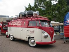 Coca Cola VW - Stock this with a few spirits to go with the coke and it would be perfect for any vintage wedding reception