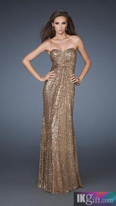 White and Gold Wedding. Gold Bridesmaid Dress. Elegant and Glamorous. gold prom dress