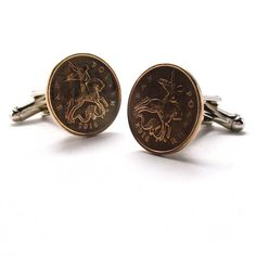 Russian Coin Cufflinks Cuff Links Russia St. George Dragon Faith Knight Coins Money Pound Finance  Trade Medieval