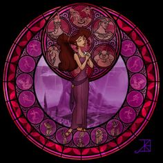 Megara in Stained Glass