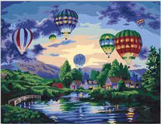 Items similar to Balloon Paint By Number kit/ Fire balloon Art/ hot-air balloon painting/ Acrylic montgolfier painting/ balloon painting/ canvas painting on Etsy Balloon Painting, Acrylic Painting Canvas, Modern Oil Painting, Diy Painting, Balloon Glow, Flying Balloon, Glow Paint, Black Tees, Paint By Number Kits