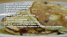 Blueberry Buttermilk Pancakes Recipe Video