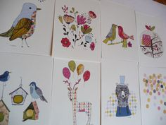 Illustrations from the calendar 2012 by Yolande on Etsy