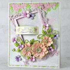 Framed Spring Floral Handmade Greeting Card - Create this elegant floral card and brighten up someone's day! And check out the blog for tutorials and great card making ideas! Pin Now! #HeartfeltCreations #greetingcard #diy #diycrafts #cardmaker #papercrafts #papercrafters #stamps #dies #blog #cardinstructions #cardmaker #handmadecard #rubberstamps #stamping #cardsample #papercraftaddict #papercraftingideas #majesticframedies Heartfelt Creations Cards, Card Making Tutorials, Felt Hearts, Card Maker, Floral Bouquets, Flower Cards, Flower Making, Rose Buds, Greeting Cards Handmade