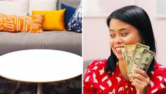 Welcome to Apartment Therapy's $32 Design Challenge. Navy Living Rooms, Colourful Living Room, Out Of Your Mind, Colorful Decor, House Colors, Apartment Therapy, Happy Life, Color Pop, Beautiful Homes
