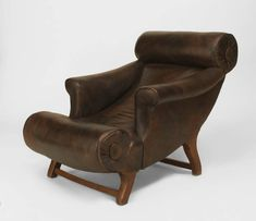 Late 19th Century English Lounge Chair by William Birch for Hampton & Son 2