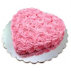 Express your love to your beloved with the amazing valentine?s theme cakes . Get 1 kg of lovable pink heart shaped cake decorated with red Cream roses and hearts on it.