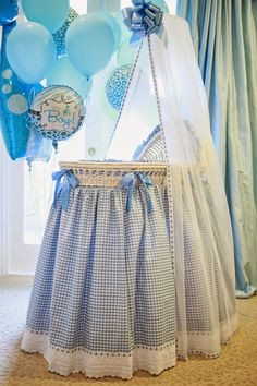 Project Nursery - Bassinet - in a beautiful sage gingham check - Mama Baby, Mom And Baby, Nursery Themes, Nursery Room, Themed Nursery, Nursery Ideas, Baby Bassinet, Baby Cribs, Prince Nursery