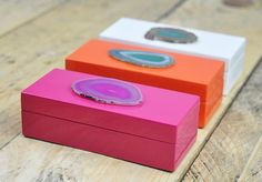 It's super easy to DIY these agate boxes.
