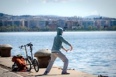 Tai chi by the sea by egkikas