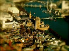 We love a bit of Aerial London Tilt Shift photography. This one was done by Del Adams, via Flickr.