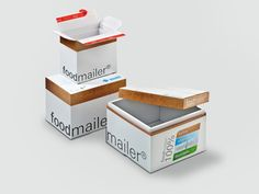 Individuell offset bedruckt im Corporate Design des Kunden in 3 Größen. Corporate Design, Ecommerce, Recycling, Decorative Boxes, Container, Home Decor, Packaging Design, Paper Board, Foods