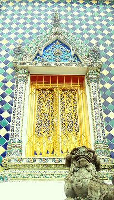 a door at grand palace, bangkok