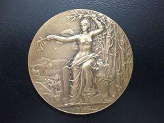 1923 NICE FRENCH ART NOUVEAU / BRONZE MEDAL / M66
