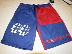BEEN TRILL # BEENTRILL active shorts blue red gym L large lrg Men's RARE NEW #BEENTRILL #Shorts