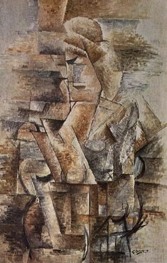 Portrait of a Woman, Female Figure, by Georges Braque