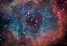 Rosette Nebula Ngc 2244 in the constellation Monoceros by Brian Lula's Heaven's Glory Observatories, 2/14/2011