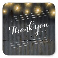 #Barn Wedding Thank you Square Sticker - #rustic #wedding #marriage #bridal #weddingideas