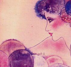 Rêverie Illustration © Denise Jacobs https://www.facebook.com/France-dart-et-de-lumi%C3%A8re-et-ses-amis-1594482090874062/
