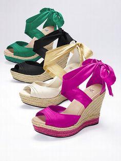 UGG® Australia NEW! Lucianna Wedge Sandal #VictoriasSecret http://www.victoriassecret.com/shoes/new-for-spring/lucianna-wedge-sandal-ugg-australia?ProductID=101072=OLS?cm_mmc=pinterest-_-product-_-x-_-x