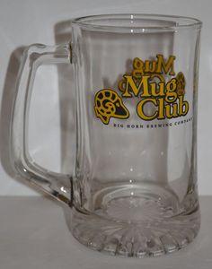 Mug Club Big Horn Brewing Company Large Glass Beer Bar Pub Tavern #BigHornBrewingCompanyMugClub