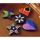 Terracotta fridge magnets