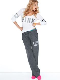 Victoria's Secret Pin boyfriend sweats- I just got these and am already in love with them! They are so comfy!!!!