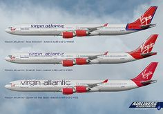 Virgin Atlantic Airbus A340-600 Liveries