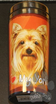 Yorkshire Terrier Yorkie Stainless Steel Travel Tumbler http://doggystylegifts.com/collections/stainless-steel-dog-breed-tumblers/products/yorkshire-terrier-yorkie-stainless-steel-travel-tumbler