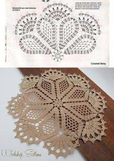 Filet Crochet, Crochet Doily Diagram, Crochet Doily Patterns, Crochet Mandala, Crochet Chart, Thread Crochet, Crochet Motif, Crochet Designs, Crochet Flowers