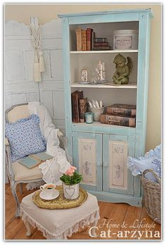 Blue Cupboard. Hutch at Cat-arzyna: shabby chic
