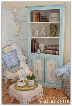 Blue Cupboard. Hutch at Cat-arzyna: shabby chic