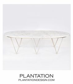 Saber Silver Coffee Table | White Marble