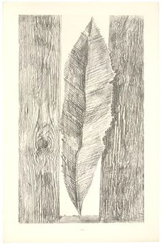 Max Ernst. Les Moeurs des feuilles (The Habit of Leaves) from Histoire Naturelle, introduction by Jean (Hans) Arp. 1926 (Reproduced frottages executed c. 1925).