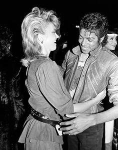 Olivia Newton-John and Michael Jackson
