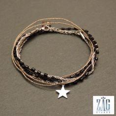 Bracelet ZAG multi-rangs étoile 4043