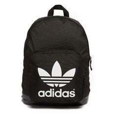 adidas Originals Sport Backpack ❤ liked on Polyvore featuring bags, backpacks, sport bag, adidas originals bag, black and white bag, sporting bags and rucksack bag