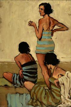 Beach Stripes by Michael Carson