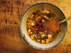 Kale, Sweet Potato and Chickpea Stew with Cumin, Paprika and Lime